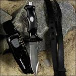 DiveMaster Dive Knife | Stainless Steel Blade, Black Handle