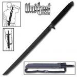 United Cutlery Ninja Sword & Shoulder Sheath | Full Tang Tanto Machete, Black Ronin