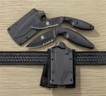 Ka-Bar TDI Rig Police LDK Knife | AUS8 Stainless Steel Combo Edge w/ Cordura Ankle Sheath
