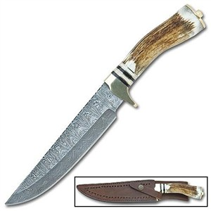 Bowie Knife w/ Stag Antler Handle