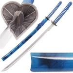 Bleach Sword, Love Aikawa Heart Guard Blue | Japanese Anime Replica Katana Fantasy Weapon