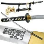 "Hattori Hanzo Sword | Kill Bill ""Bride"" w/ Black Display Stand & Cleaning Kit"