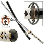 Masahiro Hand Forged Functional Katana | High Carbon Tempered Steel Sword, White Leather