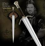 Boromir of Gondor LOTR Sword Replica | United Cutlery Lord of the Rings Longsword w/ Wall Display