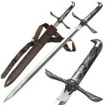Assassin's Creed II Altair Sword Replica   Majestic Medieval Fantasy Sword w/ Engraved Hardwood Handle, Leather Sheath