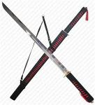 Trademark Fantasy Ninja Sword, Red & Black | QVC Collectible Pakistani Katana w/ Scabbard & Harness