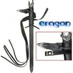 Eragon Sword Belt & Frog For Scabbard, Black Leather | Fantasy Cosplay Medieval Accessory Set for Master Cutlery Swords