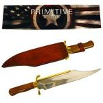 Primitive Bowie Knife Replica by Trademark Global | Brass & Stainless Steel Reenactment Blade
