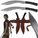 Resident Evil Double Kukri Alice Sword | Fantasy Twin Blades Zombie Movie Replica w/ Sheath & Belt by Trademark