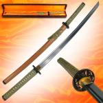 Samurai Handmade Forged Sword & Bag by Trademark | Premium Full Tang Katana w/ Scabbard, Gift Box