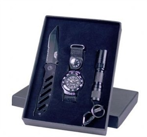 UZI Gift Set w/ Compass, Watch, LED