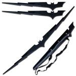 Batman Twin Blades Fantasy Collector's Set | Lightning Bolt Magnetic Display Sword & Scabbard