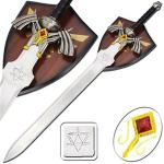 Legend Of Zelda Link's Master Sword | Stainless Steel Fantasy Replica w/ Display Plaque