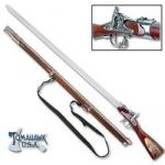Robert E Lee Rifle Sword CSA Replica | Civil War Sword Cane Enfield by United Cutlery